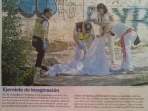 """Foto y pie de fotos publicados en """"Diario de Sevilla"""" el 12 julio 2015"""